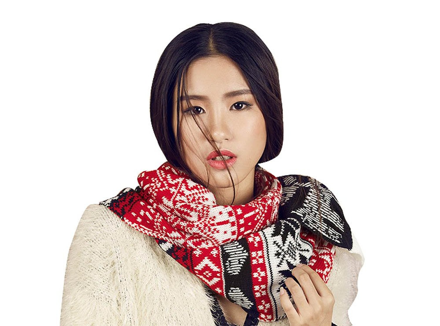 Amazon.com: KUBI Women's Holiday View Print Winter Scarf Reindeer Snowflakes Hearts (Red   Black   White): Clothing