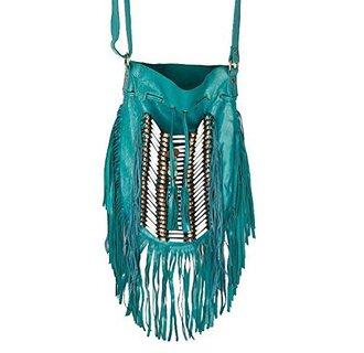 bag teal fringe fringes turquoise buffalo bones boho chic bohemian satchel bag tribal purse teal fringe purse crossbody bag hunder games