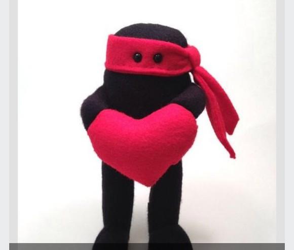 valentine hair accessories teddy ninjas