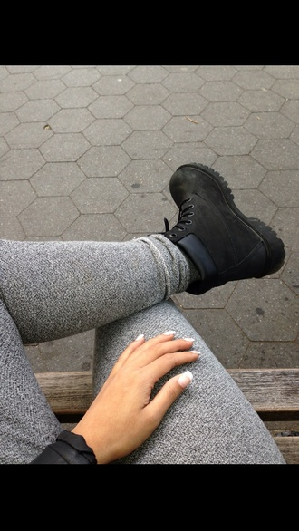 pants grey pants shoes
