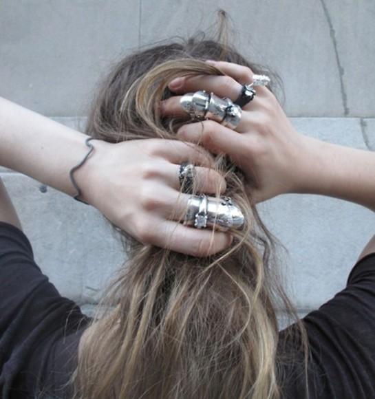 silver frantic jewelry jewels grunge soft grunge grunge jewelry streetwear black