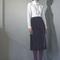 Velvet demi-pleat skirt