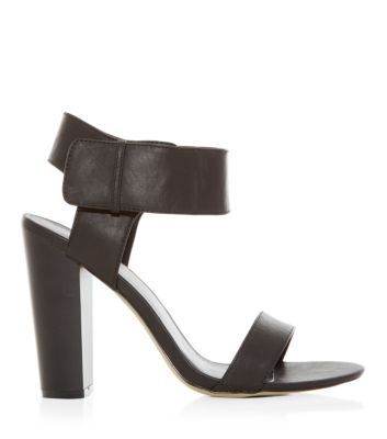 c8c5c99cb87 Black Block Heel Thick Ankle Strap Sandals