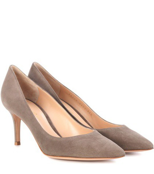 Gianvito Rossi suede pumps pumps suede grey shoes