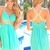 Custom Made A-line Backless Short Green Prom Dresses,Homecoming Dresses - 24prom