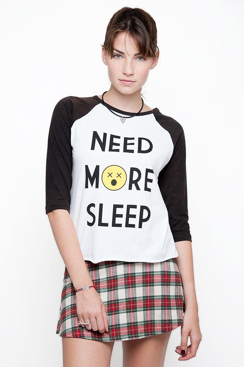 NEED MORE SLEEP TOP - Subdued