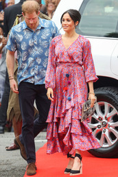 dress,meghan markle,celebrity,espadrilles,spring dress,pink dress