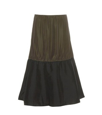skirt silk black
