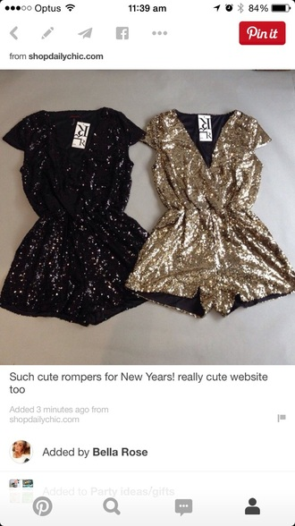 jumpsuit gold sparkles hot