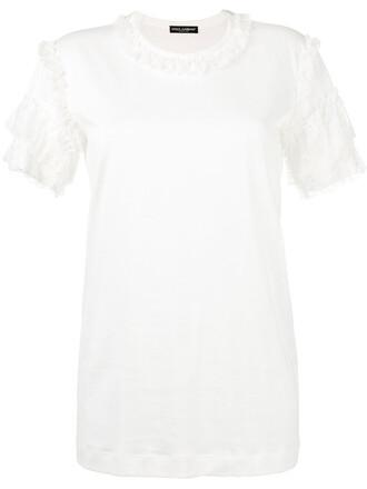 t-shirt shirt women lace white cotton top