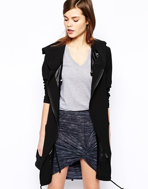 Y.A.S | Y.A.S Lulu Hooded Soft Parka at ASOS
