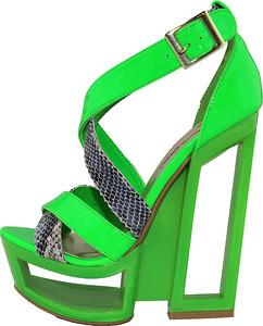 Reebok Freestyle Hi Int Brights Neon Green/White/RBK Gold
