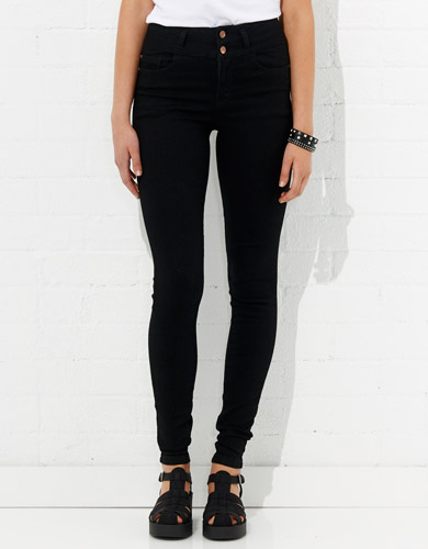 Super Skinny Double Button High Rise Basic Jean | Jay Jays