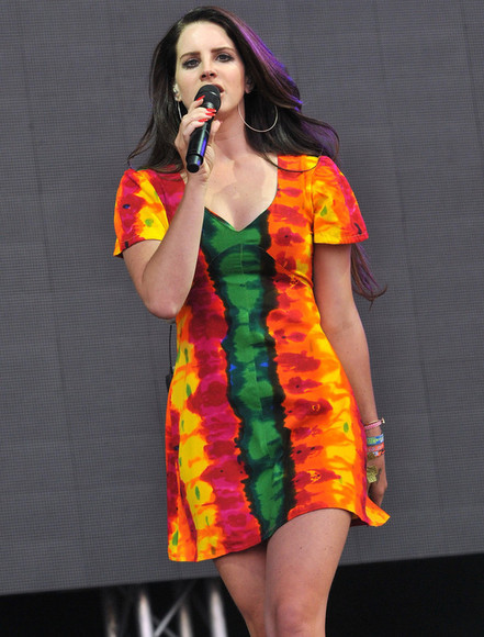 tie dye shift dress lana del rey vintage