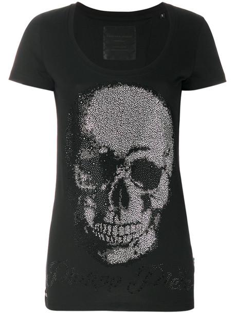 Philipp Plein - Metro Love T-shirt - women - Cotton - XXL, Black, Cotton