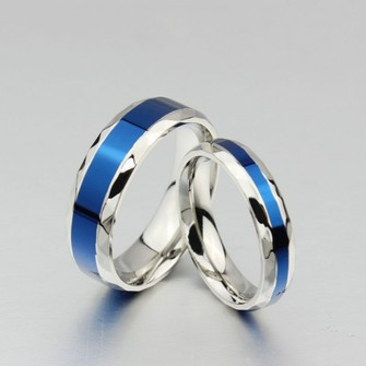 jewels blue in middle titanium steel promise rings for couple evolees.com rings for lover promise rings for couple titanium rings set black couple ring the middle
