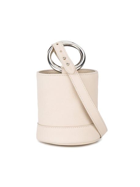 Simon Miller mini women bag bucket bag leather white