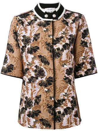 shirt short women jacquard top
