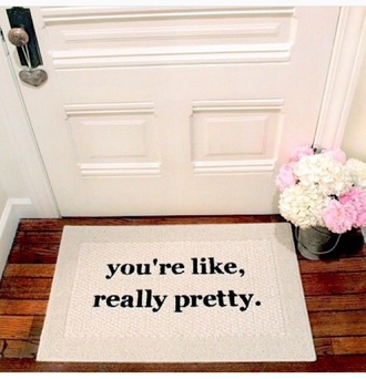 home accessory rug doormat girly mean girls dorm room