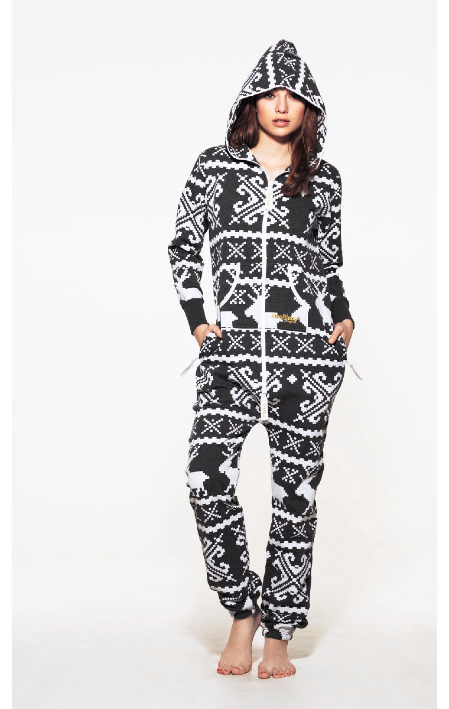 Lillehammer onesie dark grey/white