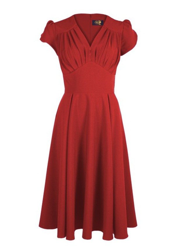 40s vintage retro red dress swing dress housewife vintage dress long dress rockabilly dress 1940s