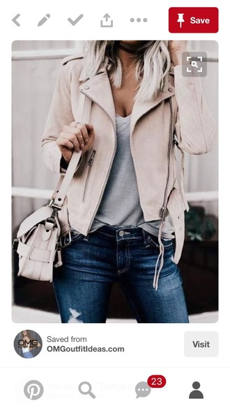 jacket light pink biker jacket