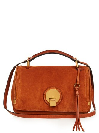 bag shoulder bag leather tan
