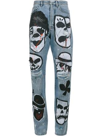 jeans boyfriend jeans skull boyfriend blue