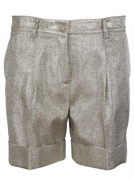 Parosh Lurex Shorts in metallic