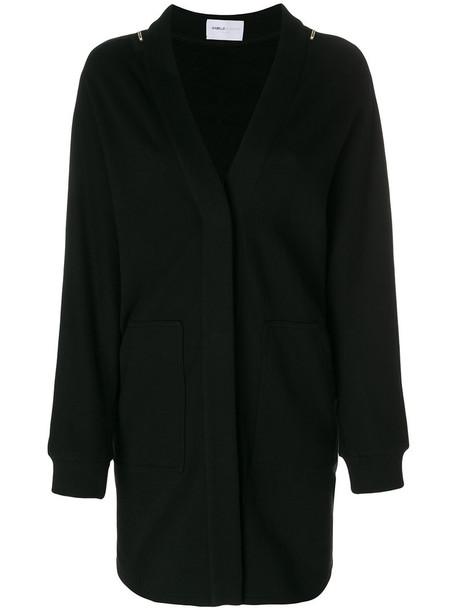 cardigan cardigan long women embellished cotton black sweater