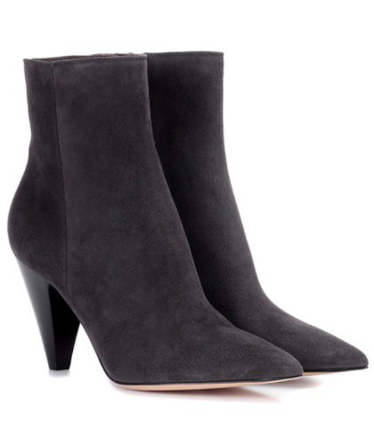 Gianvito Rossi suede ankle boots ankle boots suede grey shoes