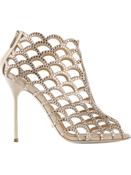 Sergio Rossi embellished sandals nude shoes