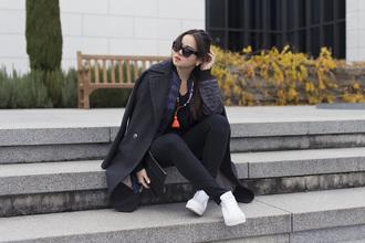 blaastyle blogger sneakers tassel winter coat