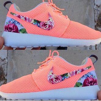 shoes neon floral