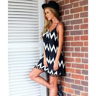 dress black stripes black dress striped shirt strapless strappy bikini black mini dress white mini dress