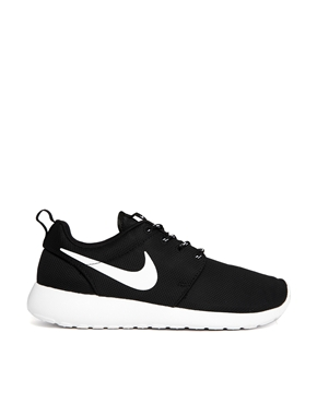 Nike | Nike Roshe Run Black Trainers at ASOS