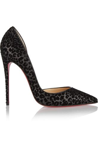 pumps leather print black leopard print shoes