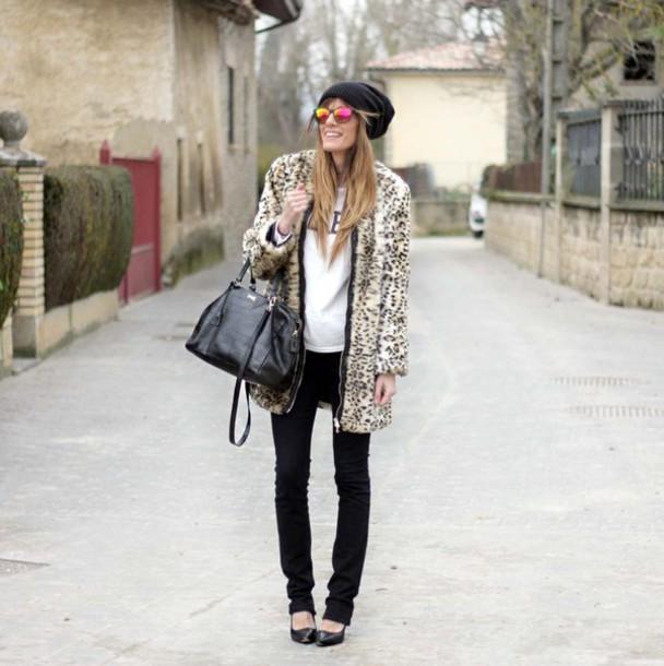 rebel attitude blogger coat t-shirt jeans shoes bag hat