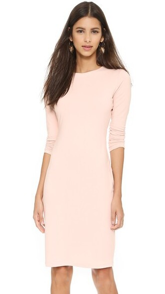 dress long sleeve dress long nude