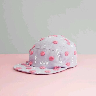 hat snapback baseball cap pink hat cute hipster