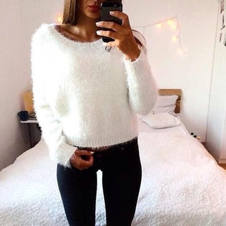 top style white top black jeans