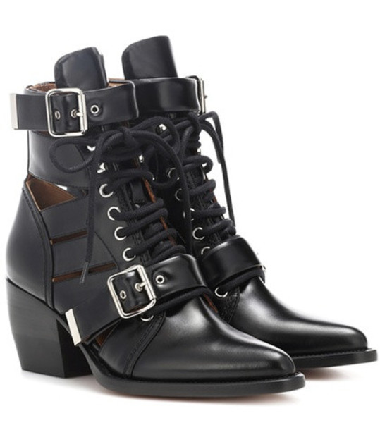 Chloé Rylee leather ankle boots in black