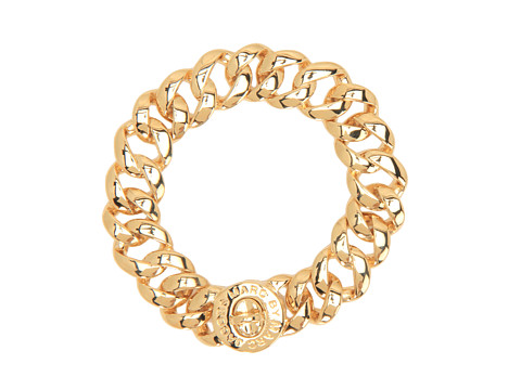 Marc by Marc Jacobs Turnlock Small Katie Bracelet Oro - Zappos Couture