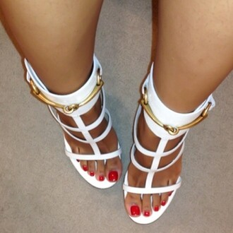 shoes gold white classy red carpet