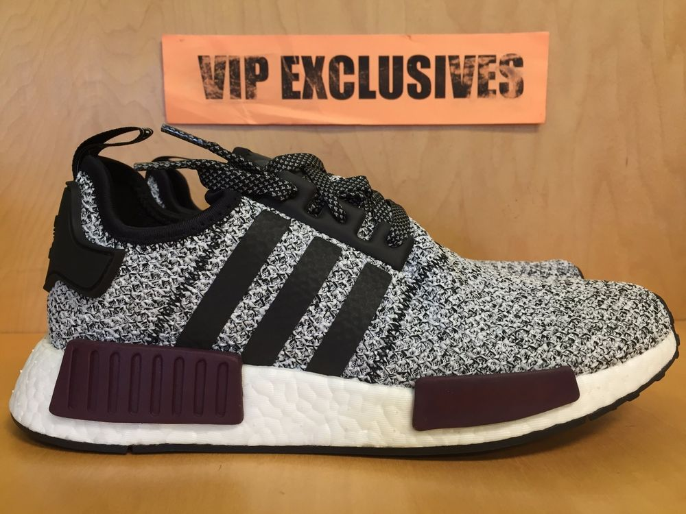 Adidas Nmd R1 Reflective 3m B39506 White Burgundy Black Grey