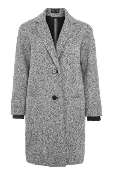 Topshop coat monochrome