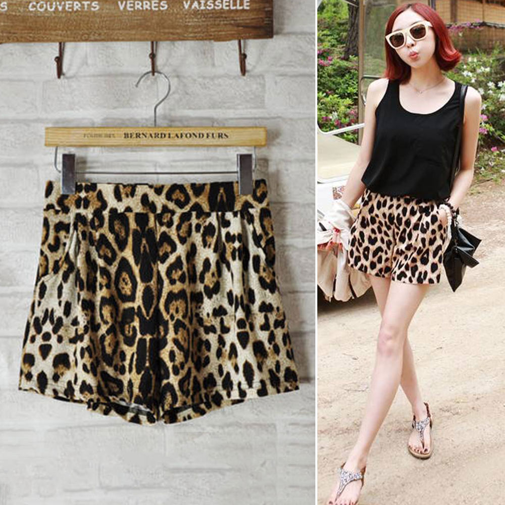 Cool Girls Women's Leopard Print Casual Middle Waist Shorts Pants Sexy | eBay