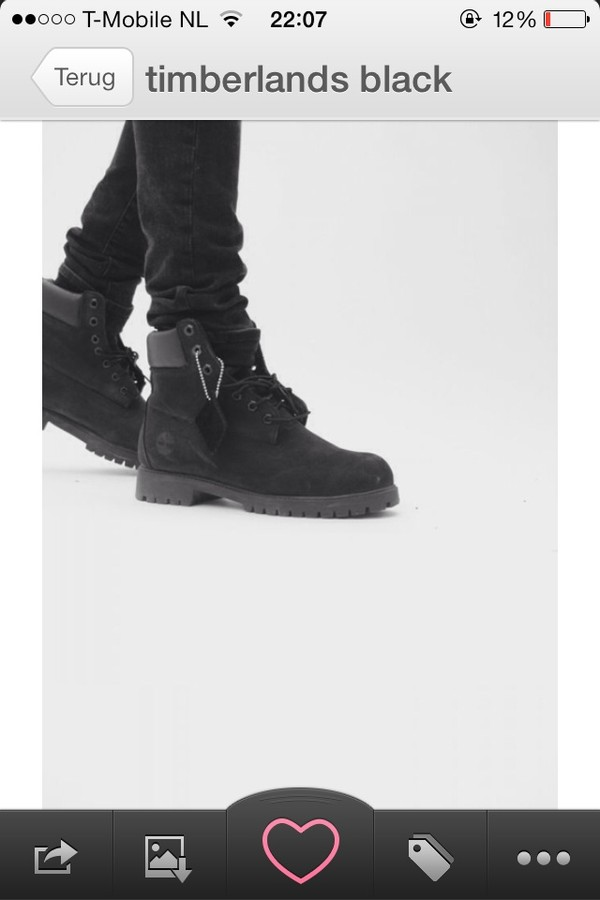 shoes timberlands black