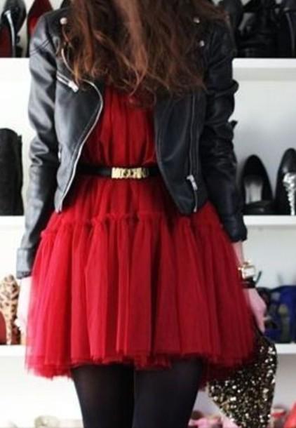 dress red dress party dress short