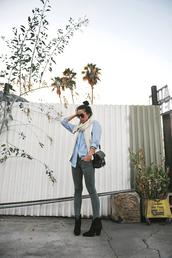 neon blush,shirt,jacket,scarf,jeans,shoes